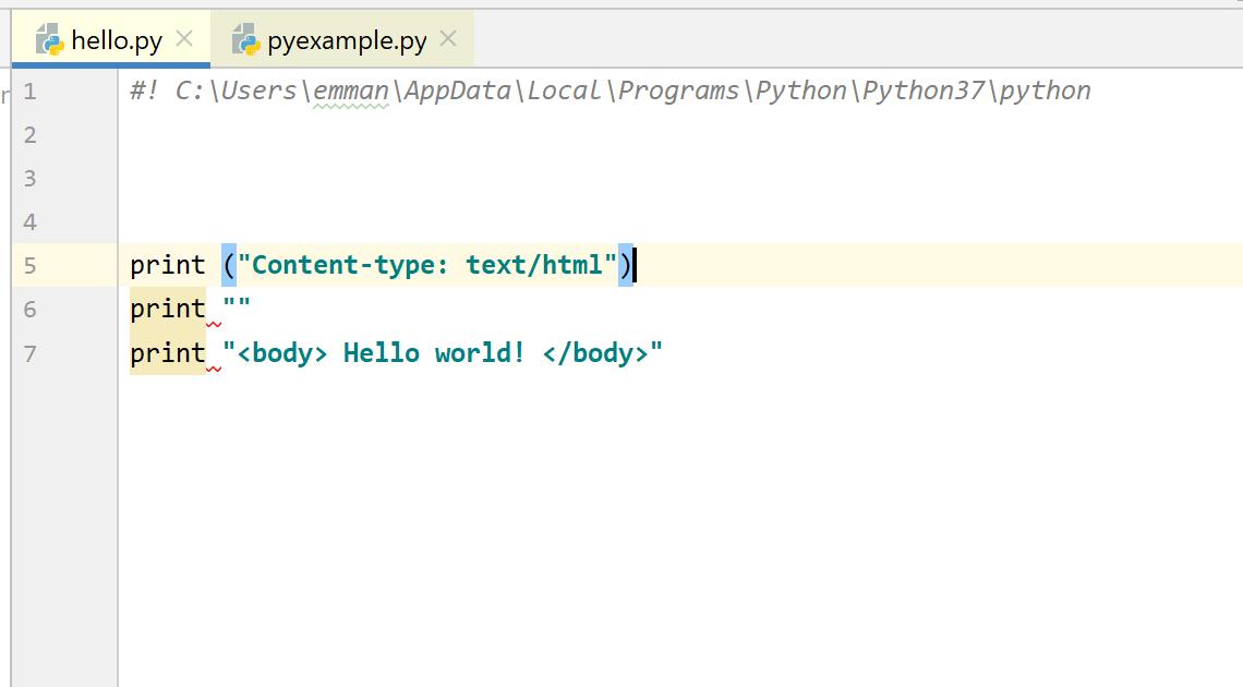 Python with xampp