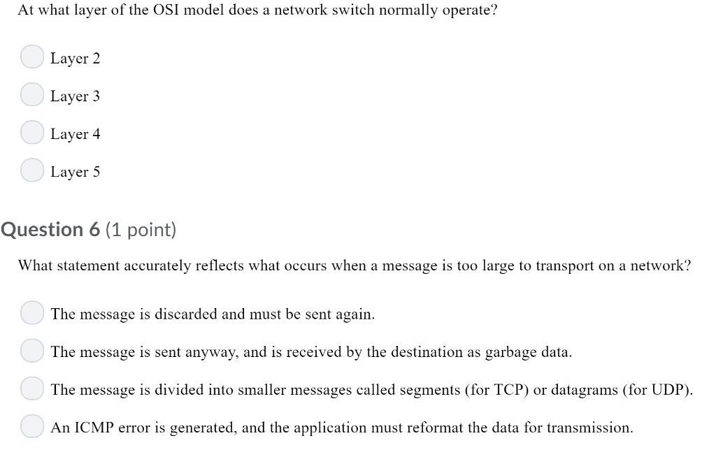 Solved: At What Layer Of The OSI Model Does A Network Swit