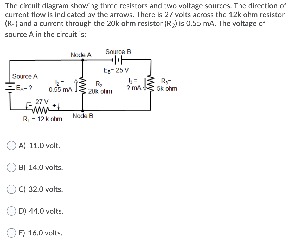 The Circuit Diagram Showing Three Resistors And Tw ...