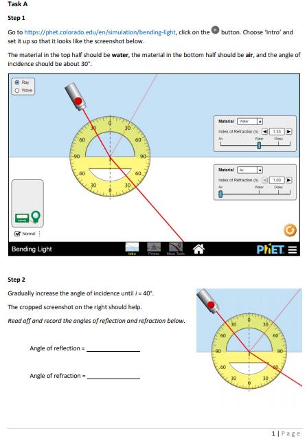 phet light bending | Adiklight.co