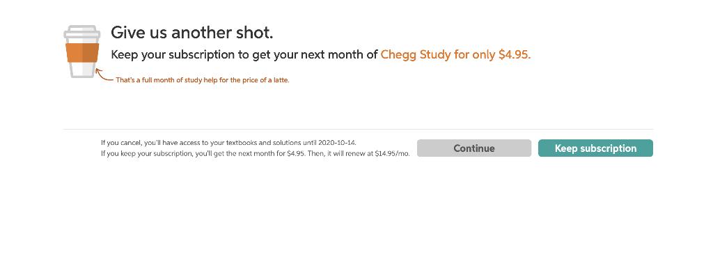 Cancel Chegg Homework Help