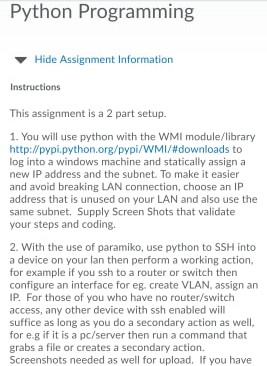 Python Programming Hide Assignment Information Ins    | Chegg com