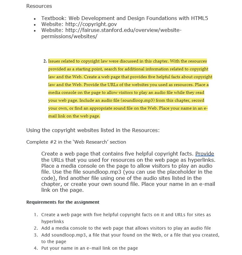 Resources Textbook Web Development And Design Fou Chegg Com