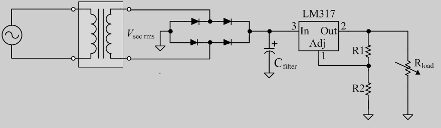 Design A DC Power Supply With The Above Topology T