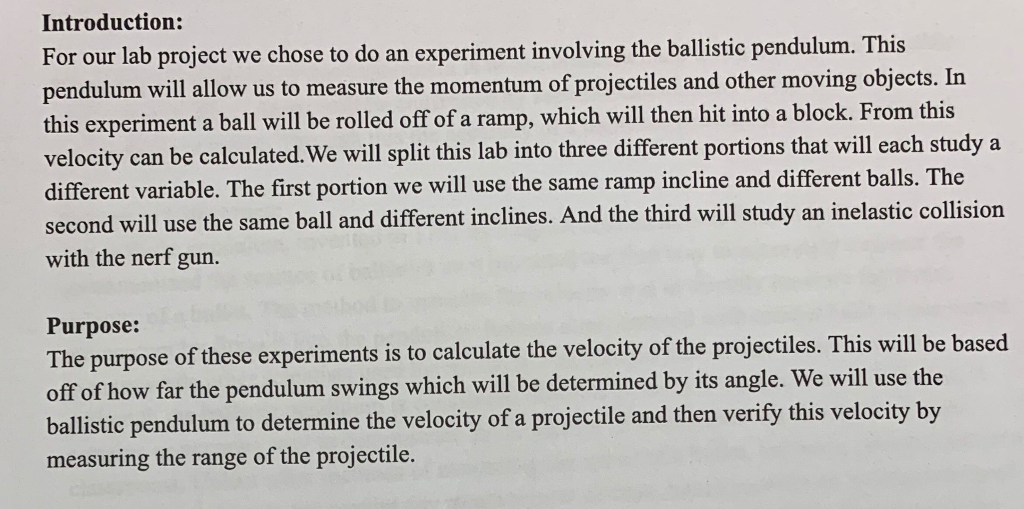 Am Writing A Lab Report About (Simple Pendulum) An      Chegg com