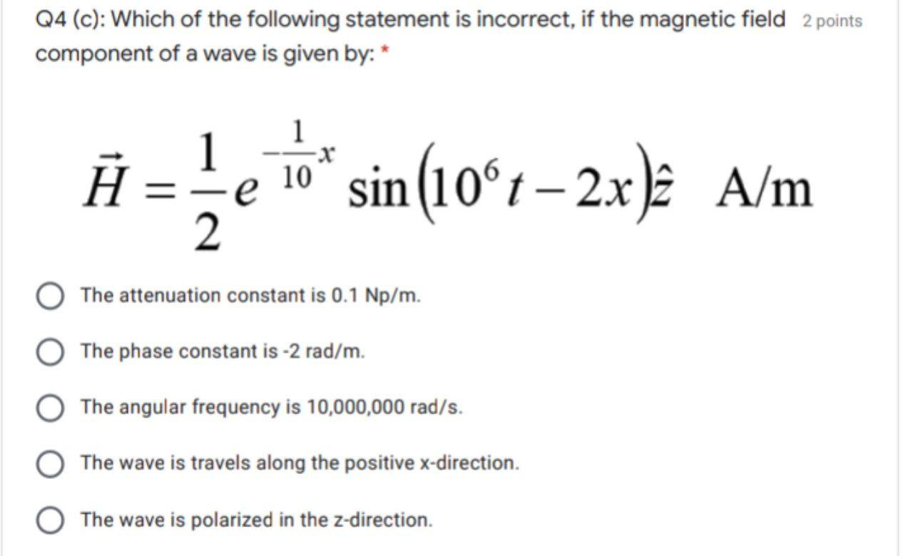 Solved: 2 Points Q4 (a): Which Of The Following Statements ...