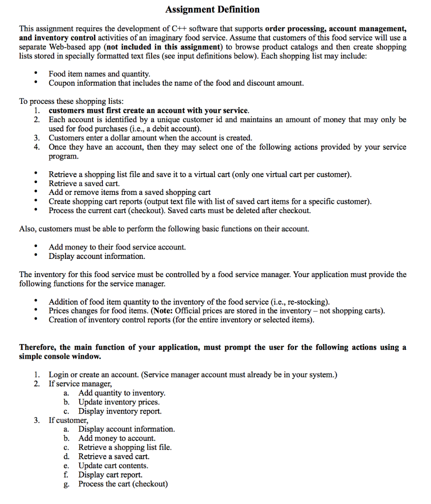 Assignment Definition This Assignment Requires The    | Chegg com