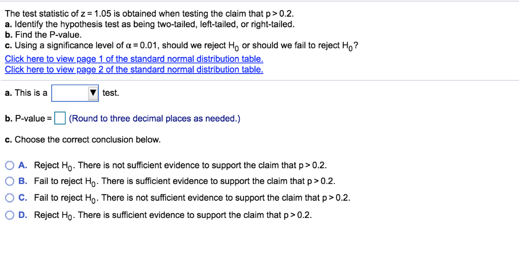 Solved: Use Technology To Find The P-value For The Hypothe
