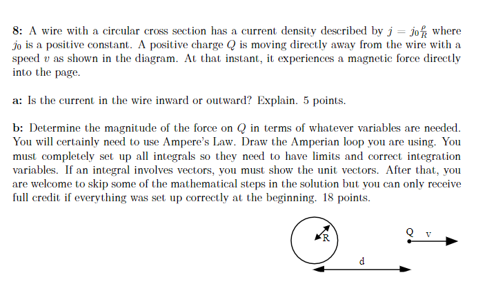 [DIAGRAM_1JK]  Solved: 8: A Wire With A Circular Cross Section Has A Curr...   Chegg.com   Wiring Diagram Joke      Chegg