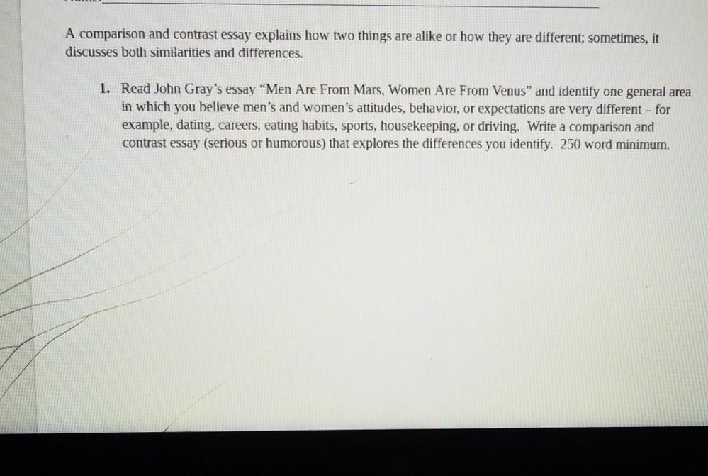 female essay