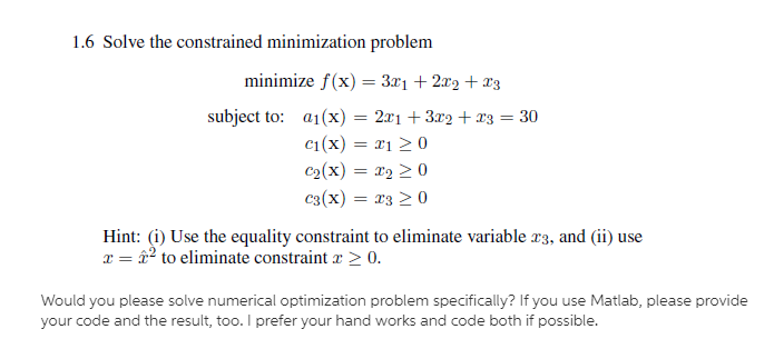 Would You Please Solve It With Numerical And Also