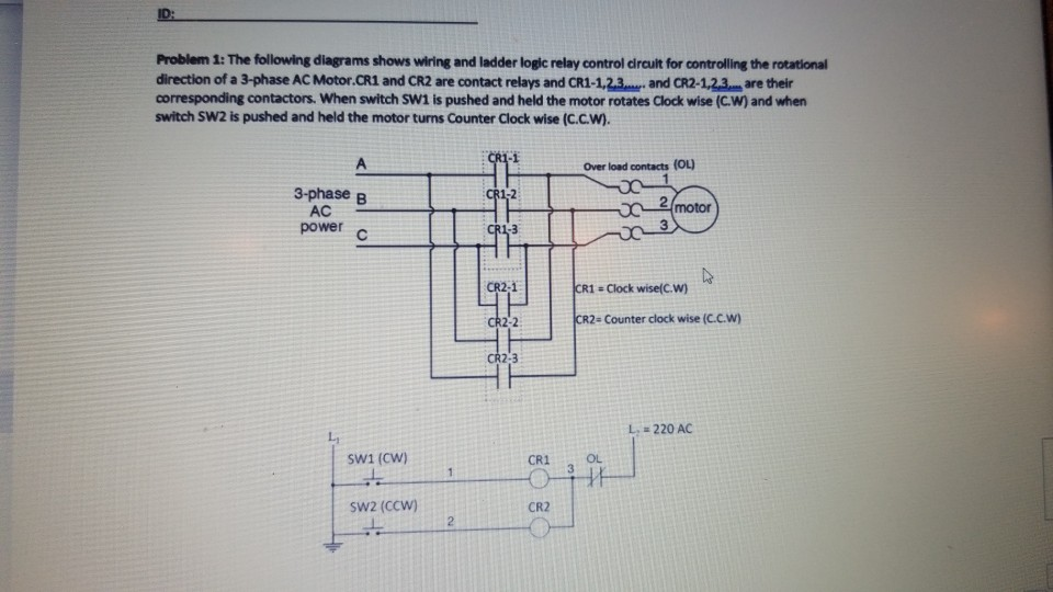 3 phase 220v schematic wiring diagram solved problem 1 the following diagrams shows wiring and  the following diagrams shows wiring and