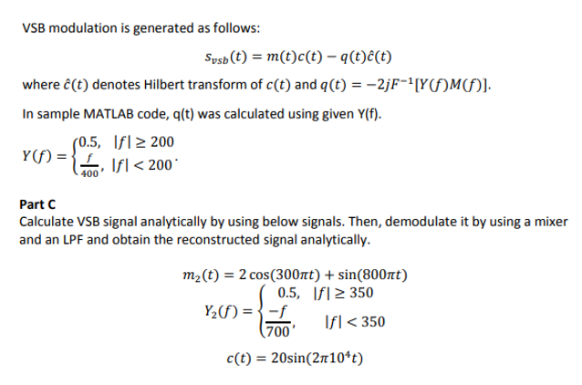 Matlab code modulation vsb single side