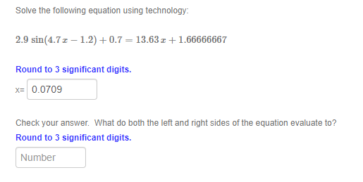 Solved Solve The Following Equation Using Technology 2 9 Chegg Com