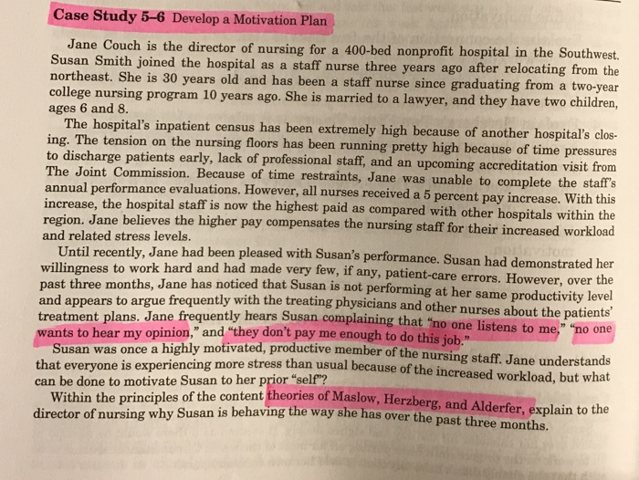 case study on motivation