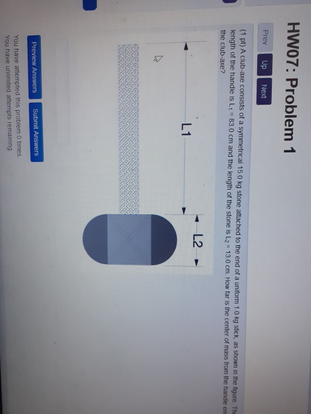 Solved: HW07: Problem 1 Prev Up Next (1 Pt) A Club-axe Con