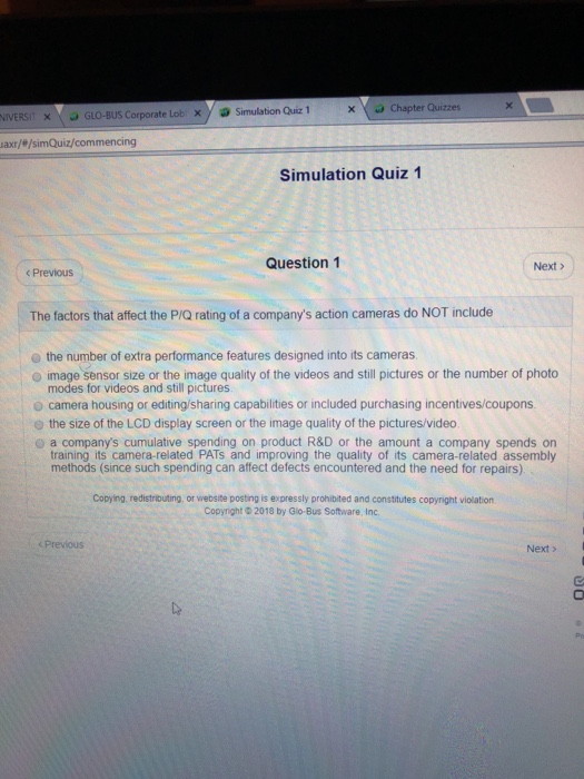 glo bus quiz 1 Where can i find bsg game quiz 1 answers and questions  as a mbs graduate student and glo-bus game champion as of late i made the decision to write about my .