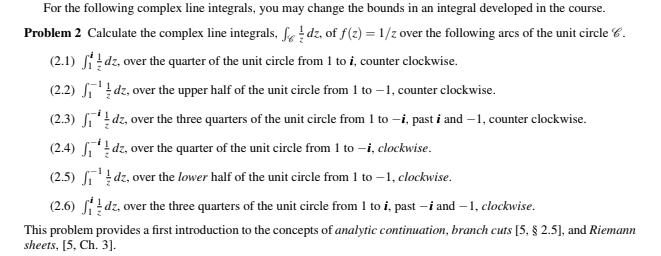 Complex line integral calculator
