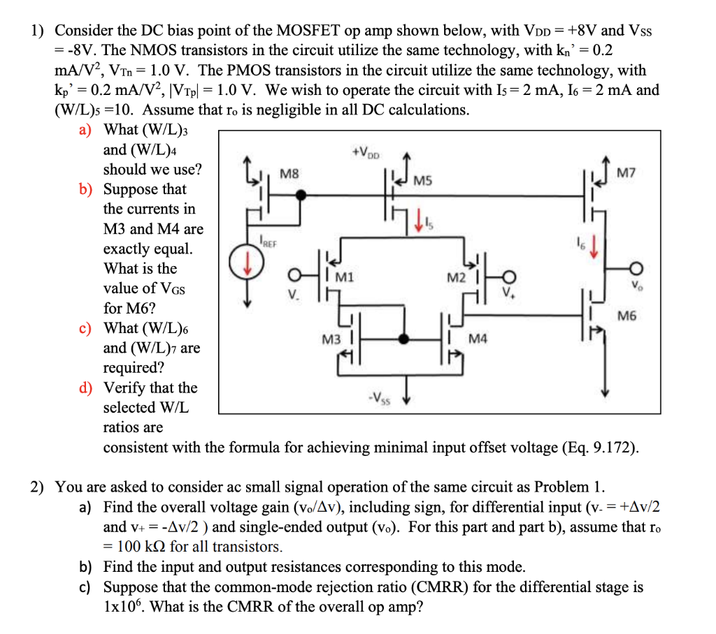 Find The Dc Bias Point For Both Transistors In The Following Circuit