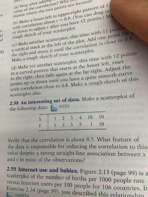 מוגן ר (a) Stop after adding value of the correlation? Why u matter where the two points are located? (b) Make a lower-left t