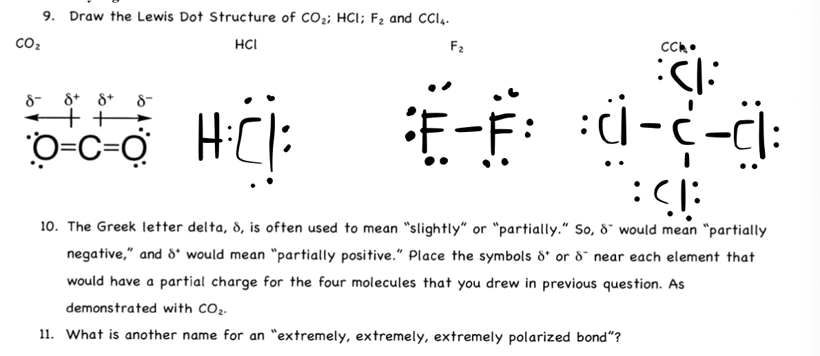 Solved 9 Draw The Lewis Dot Structure Of Co2 Hci F2 An Chegg Com