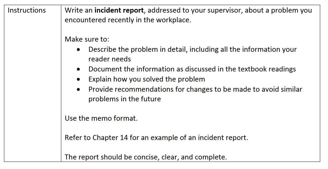 Incident Statement Letter Sample from media.cheggcdn.com