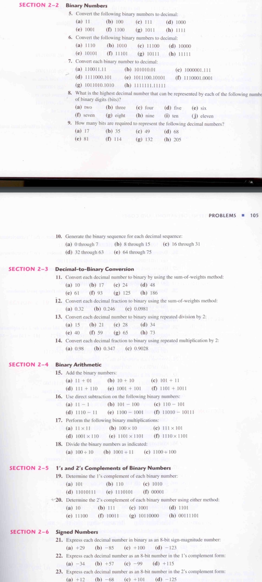 Section 2 Binary Numbers 5 Convert