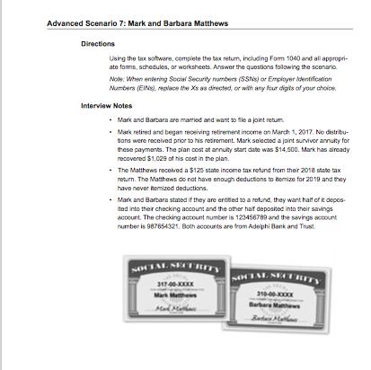 Advanced Scenario 7 Mark And Barbara Matthews Dir