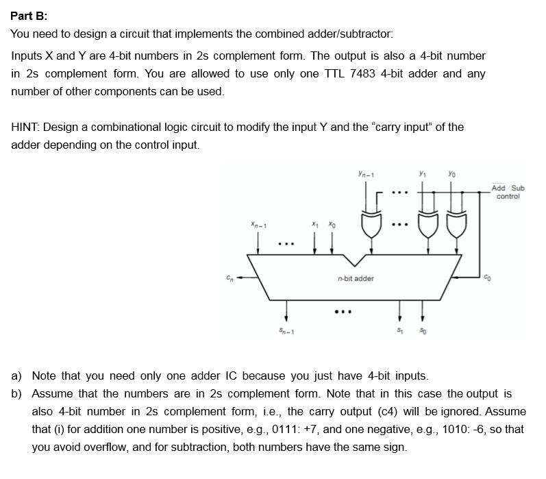 Solved Part B You Need To Design A Circuit That Implemen Chegg Com