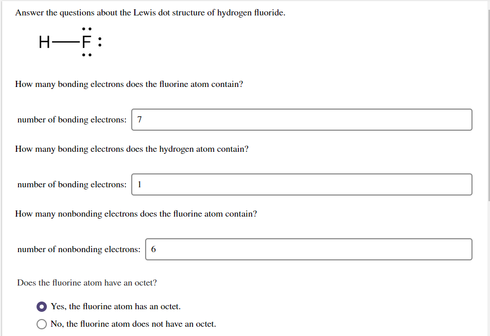 Solved: Answer The Questions About The Lewis Dot Structure ...