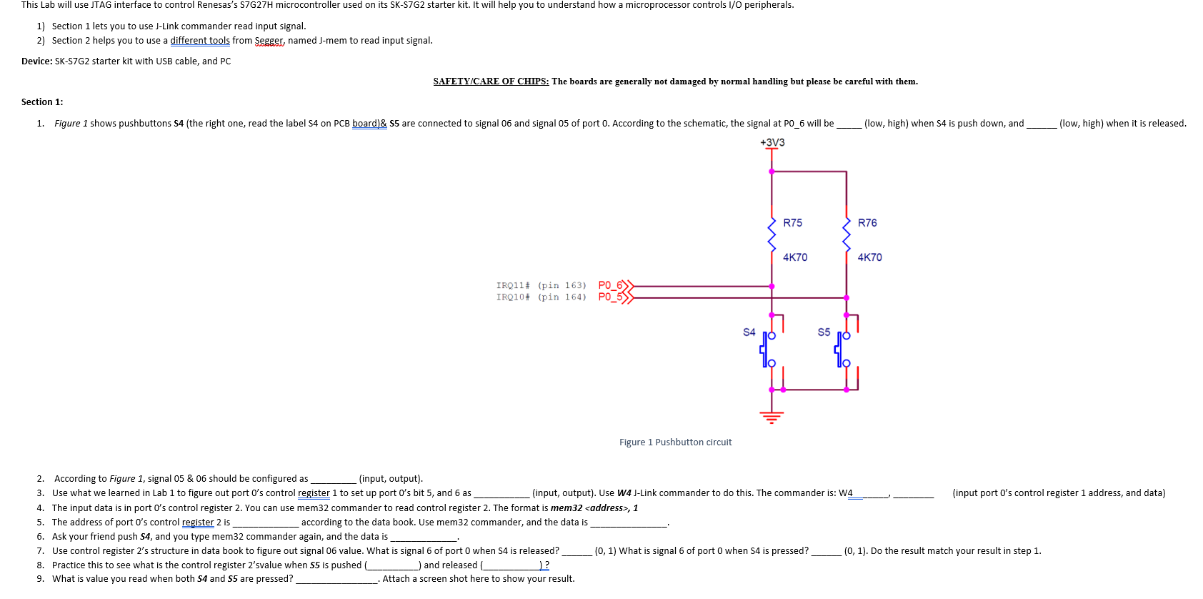 This Lab Will Use JTAG Interface To Control Renesa ... J Link Schematic on
