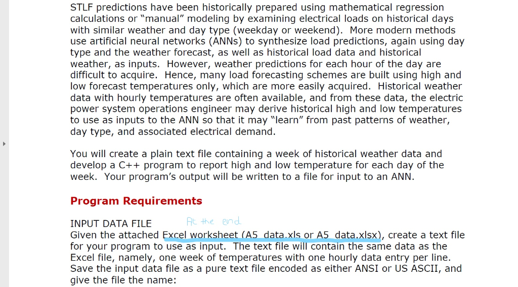 Solved: Short-term Electrical Load Forecasting (STLF) Is N