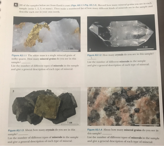 Solved: All Of The Samples Below Are From Earth's Crust (F