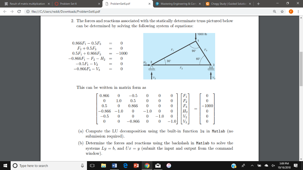 Pdf matlab with problem engineering solving