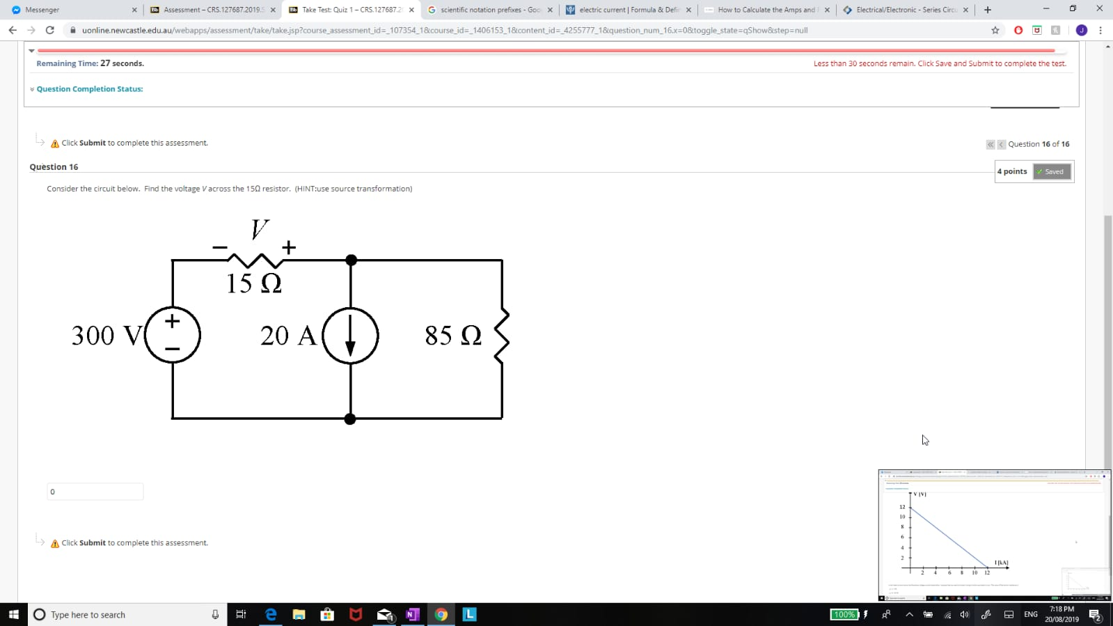 Solved: Consider The Circuit Below And Find The Voltage Ac