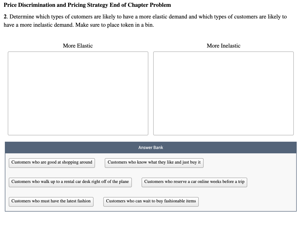 Price Discrimination And Pricing Strategy End Of C