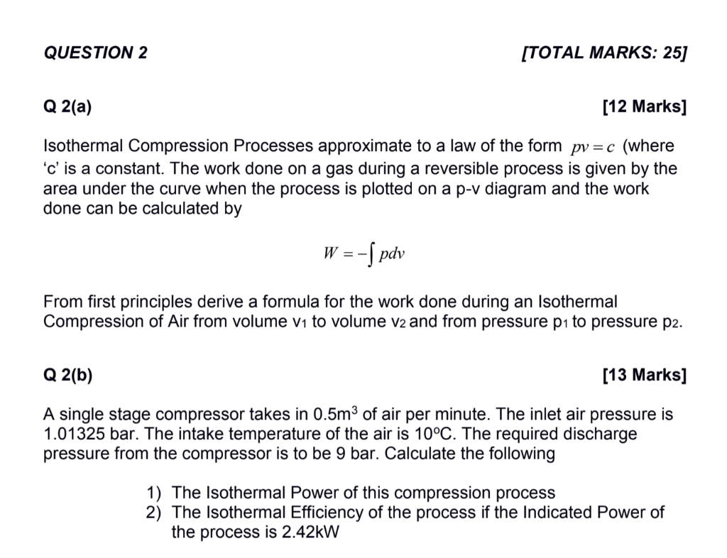 QUESTION 2 [TOTAL MARKS: 25] Q 2(a) [12 Marks] Iso    | Chegg com