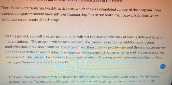 The Course  There Is An Executable File, Math Prac