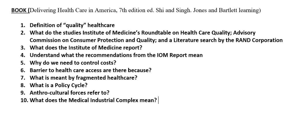 BOOK (Delivering Health Care In America, 7th Editi