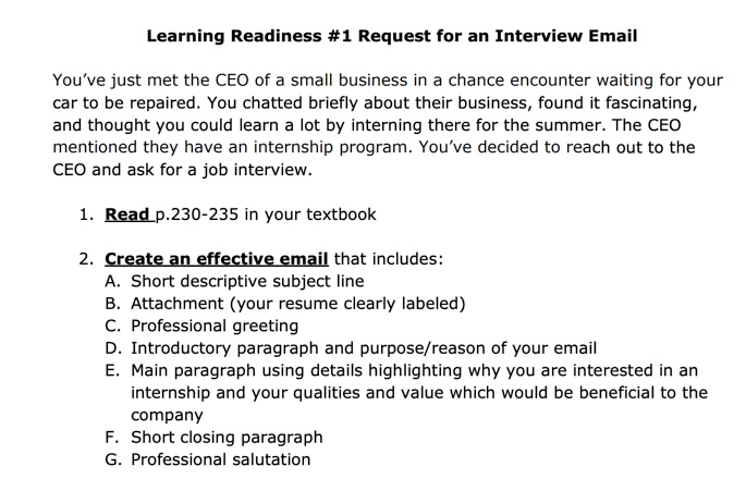 Solved I Need Help Writing A Business Email Here Is The