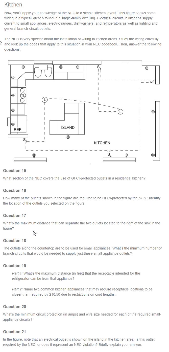 Typical Kitchen Wiring Diagram