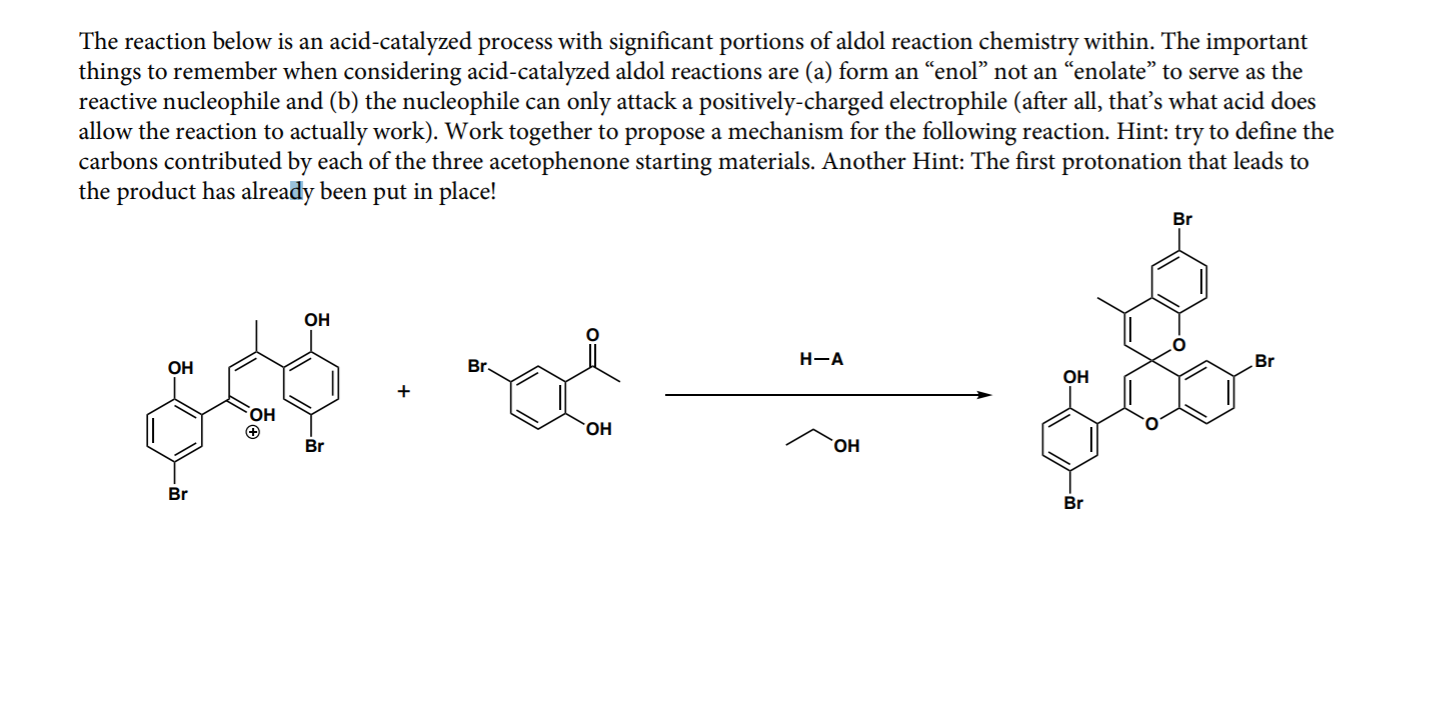 The Reaction Below Is An Acid Catalyzed Process Wi