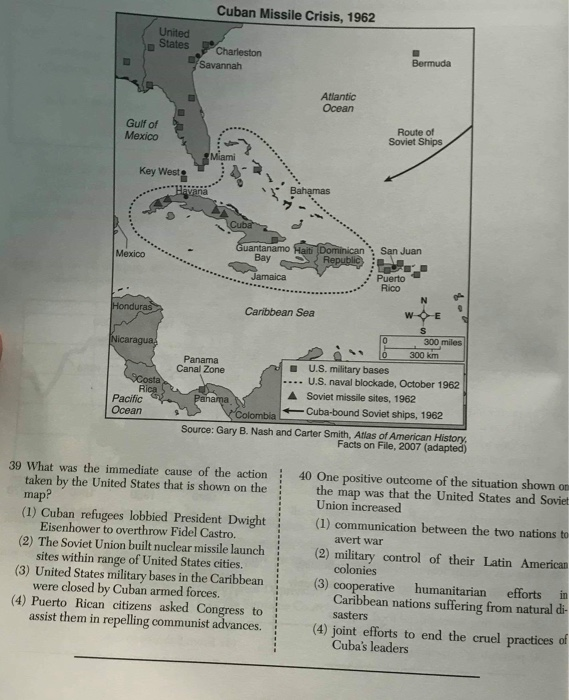 Solved: Cuban Missile Crisis, 1962 United States Charlesto ...