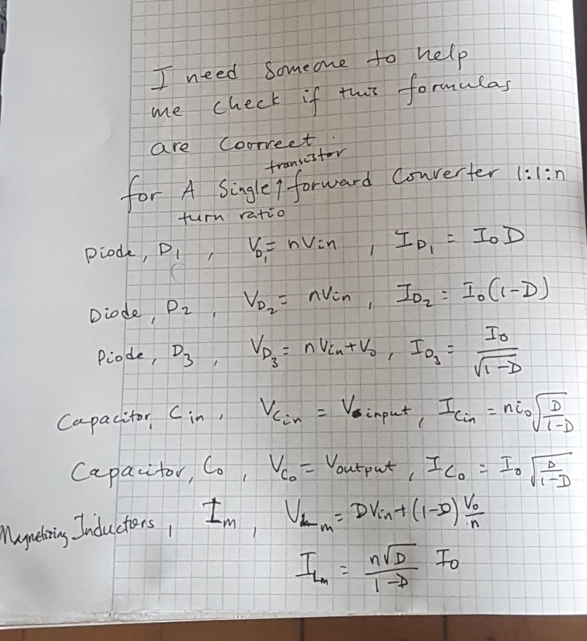 Solved Can Somebody Check The Formulas I Derived For A Si