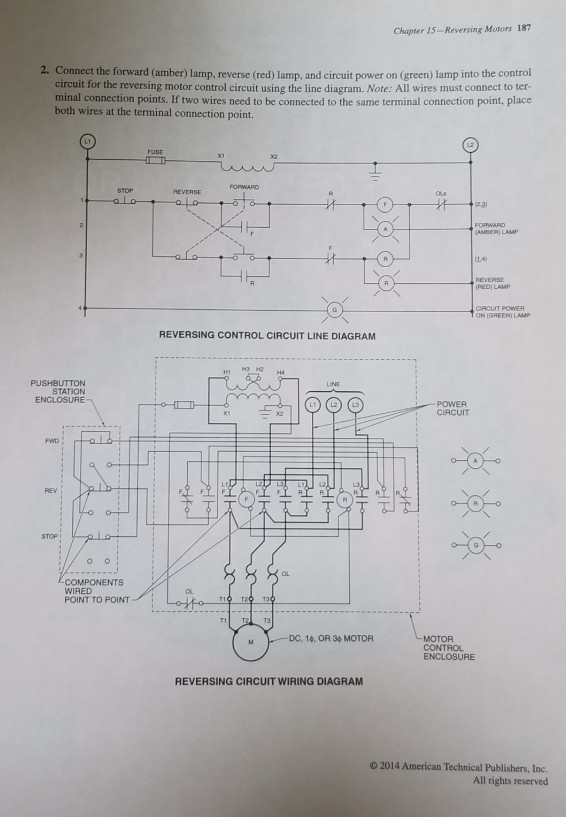 electrical wiring diagram forward reverse motor control and power solved chapter 15 reversing motors 187 2 connect the f  solved chapter 15 reversing motors