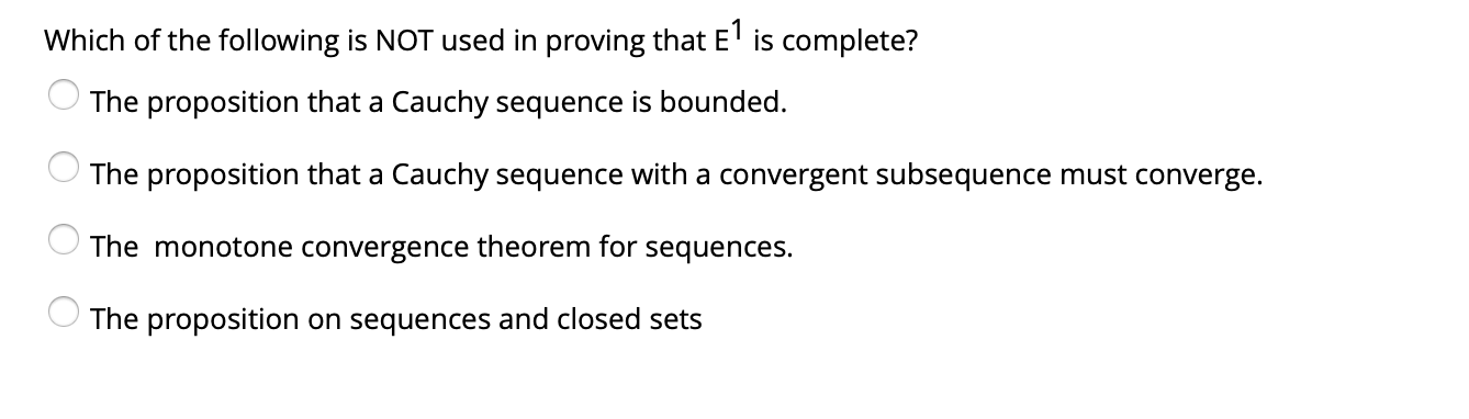 Solved Which Of The Following Is Not A Complete Metric Sp