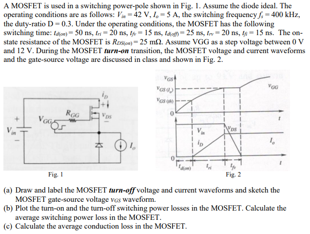 A MOSFET Is Used In A Switching Power-pole Shown I