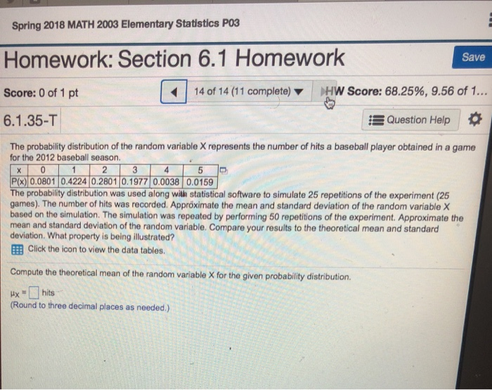 Help With Elementary Statistics Homework - Plz help with elementary