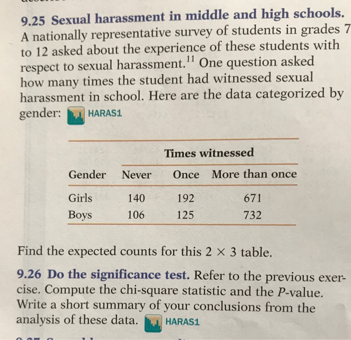 Sexual harrasssment question and answer