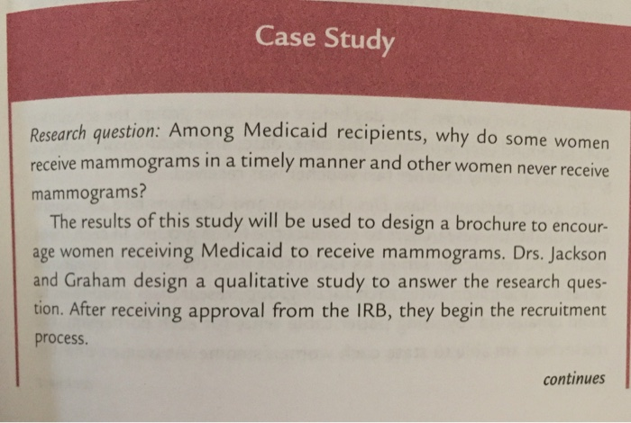 Case Study Research Question